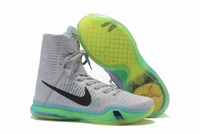 Kobe 10 Shoes Elite Grey Green